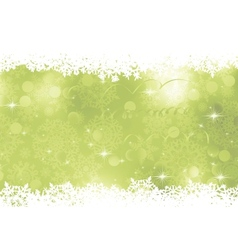 Green Christmas Background EPS 8 vector image