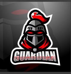 Guardian head mascot esport logo design vector