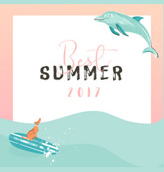Hand drawn funny summer time vector