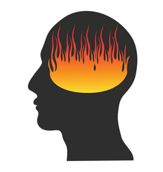 head on fire vector image