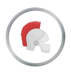 Helmet icon in cartoon style isolated on white vector image