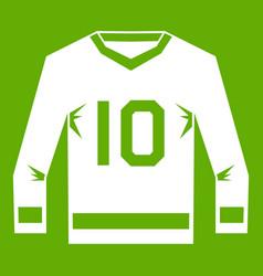 hockey jersey icon green vector image