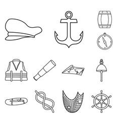 isolated object ocean and travel symbol vector image