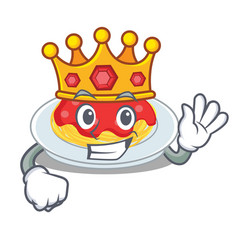 king spaghetti character cartoon style vector image