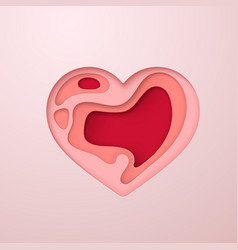 layered heart icon vector image