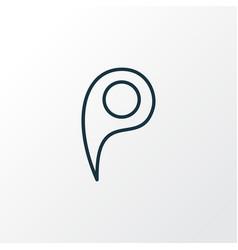 location pin icon line symbol premium quality vector image