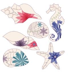 marine elements 2 vector image