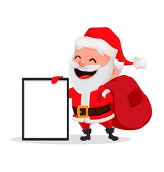 merry christmas funny santa claus vector image