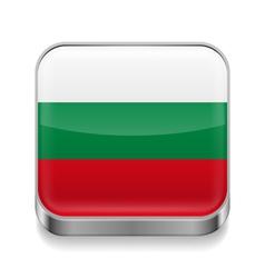 Metal icon of Bulgaria vector