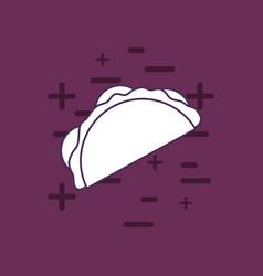 Mexican taco icon vector