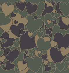 Military Camouflage Love vector