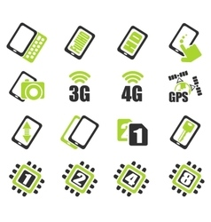 Mobile or smartphone specifications and functions vector