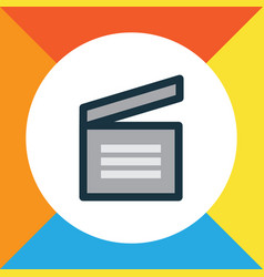 movie clap colorful outline symbol premium vector image