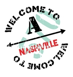 Nashville stamp rubber grunge vector