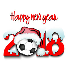 new year numbers 2018 and soccer ball vector image
