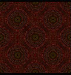 Oriental abstract maroon mandala mosaic ornament vector