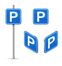 parking place road sign isometric vector image
