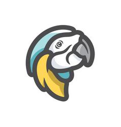 parrot exotic bird icon cartoon vector image