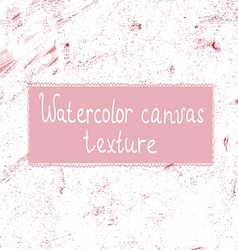 Pink watercolor canvas background or texture vector image