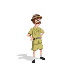 professor in cartoon style image hunter vector image