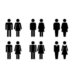 restroom door pictograms vector image