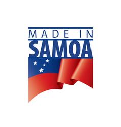 Samoa flag on a white vector