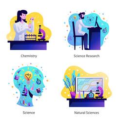 Science concept design vector