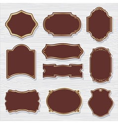 set 2 of design elements sample labels shapes vector image
