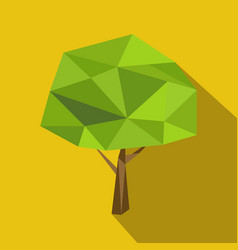 Set polygonal flat trees with different crowns and vector