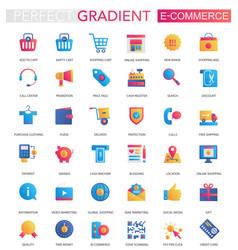 set trendy flat gradient e-commerce vector image