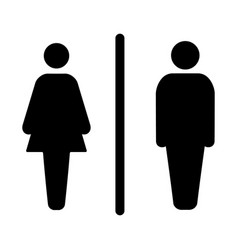 Sign male and female toilet vector