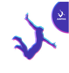 silhouette of a jumping man design template sport vector image