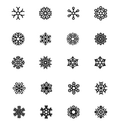 SnowFlakes Icons 3 vector