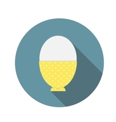 Soft-Boiled Egg Flat Icon with Long Shadow vector image