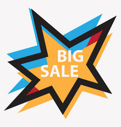 star big sale symbol vector image