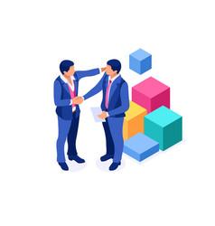 Success partnership sign vector
