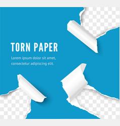 torn paper corner effect over transparent vector image