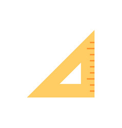 Triangle ruler flat icon vector