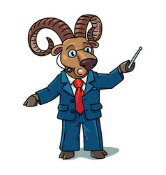 Urial or ram university lecturer professions abc vector