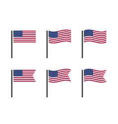 usa flag symbols set united states america vector image
