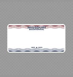 Vehicle registration plate vector