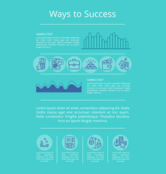 Ways to success visualization vector