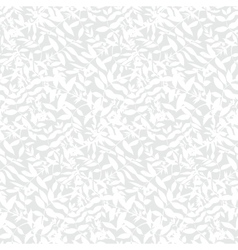 White floral texture with small leaves vector image