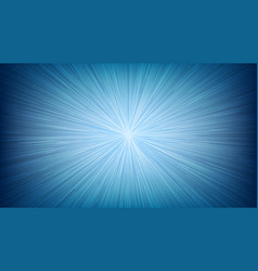 White light speed line burst ray on blue vector
