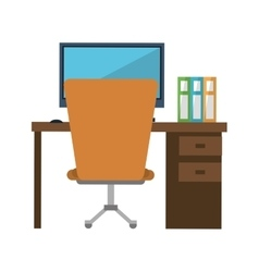 workplace office space equipment design vector image