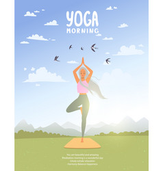 yoga asana tree vector image
