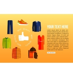 Best quality clothes vector image vector image