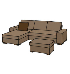big beige couch vector image