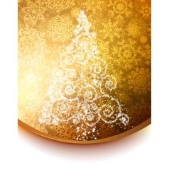 Elegant christmas tree background vector