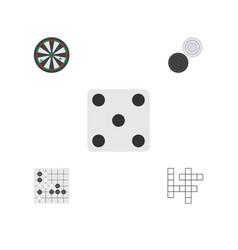 flat icon play set of chequer backgammon gomoku vector image vector image